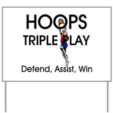 TOP Hoops Triple Play Yard Sign