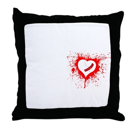 Broken Hearted Throw Pillow