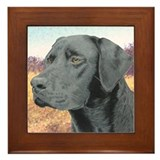 Black Lab Framed Tile