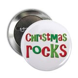 "Christmas Rocks Love Holiday 2.25"" Button (10 pack"
