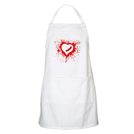 Broken Hearted again BBQ Apron