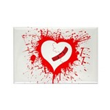 Broken Hearted again Rectangle Magnet
