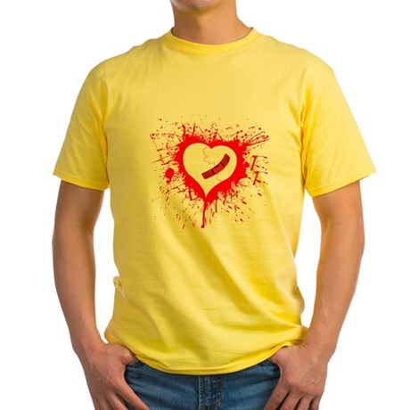 Broken Hearted again Yellow T-Shirt