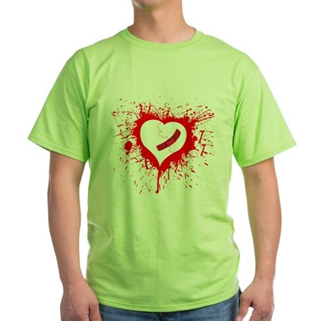 Broken Hearted again Green T-Shirt