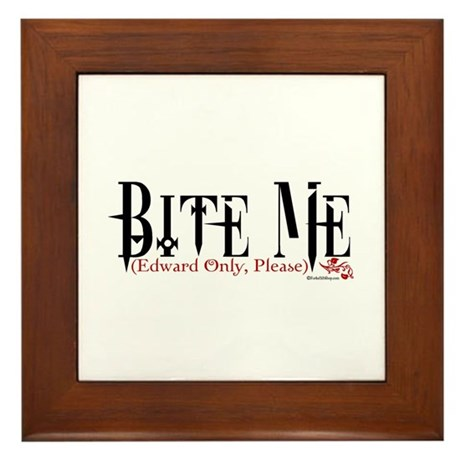 Bite Me (Edward Only, Please) Framed Tile