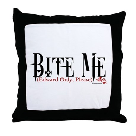 Bite Me (Edward Only, Please) Throw Pillow