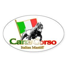 Cane Corso run Oval Decal
