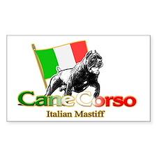 Cane Corso run Rectangle Decal