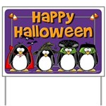 Happy Halloween Penguin Yard Sign