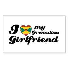 I love Grenadian Girlfriend Rectangle Decal