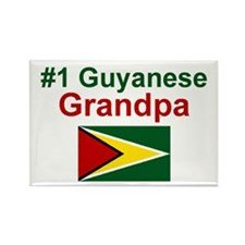 Guyana-#1 Grandpa Rectangle Magnet