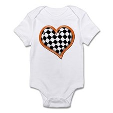 Orange Race Heart Infant Bodysuit