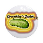 Everything's Jewish Ornament (Round)
