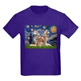 Starry Night Red Husky Pair T