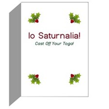 Io Saturnalia! (No Toga) Greeting Cards (Pk of 20)