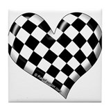 Checkered heart Tile Coaster