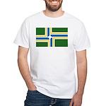 Portland Flag White T-Shirt