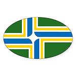 Portland Flag Oval Sticker