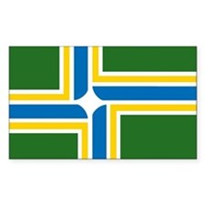 Portland Flag Rectangle Decal