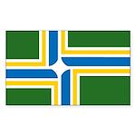 Portland Flag Rectangle Sticker