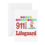 Lifeguard Christmas Shirts an Greeting Cards (Pk o