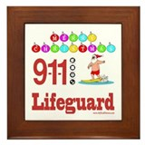 Lifeguard Christmas Shirts an Framed Tile