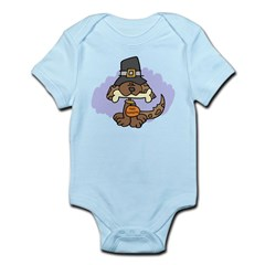 Thanksgiving Puppy Infant Bodysuit
