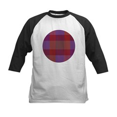 Purple Plaid Kids Baseball Jersey