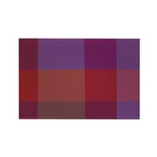 Purple Plaid Rectangle Magnet (100 pack)