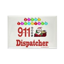 911 Dispatcher Christmas Gift Rectangle Magnet (10