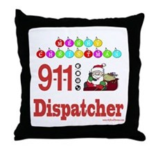 911 Dispatcher Christmas Gift Throw Pillow