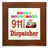 911 Dispatcher Christmas Gift Framed Tile