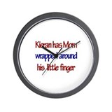 Kieran -  Mom Wrapped Around  Wall Clock