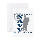 I Support Son 2 - NAVY Greeting Cards (Pk of 10)
