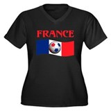 TEAM FRANCE WORLD CUP Women's Plus Size V-Neck Dar