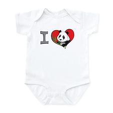 I heart pandas Infant Bodysuit