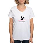 Trumpet (red stars) Women's V-Neck T-Shirt