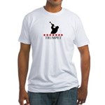 Trumpet (red stars) Fitted T-Shirt