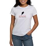 Speed Skating (red stars) Women's T-Shirt