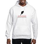 Speed Skating (red stars) Hooded Sweatshirt