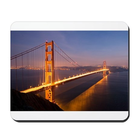 Golden Gate Bridge at Sunset Mousepad