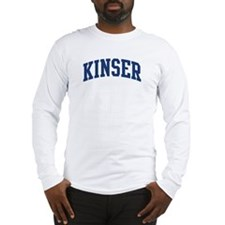 KINSER design (blue) Long Sleeve T-Shirt