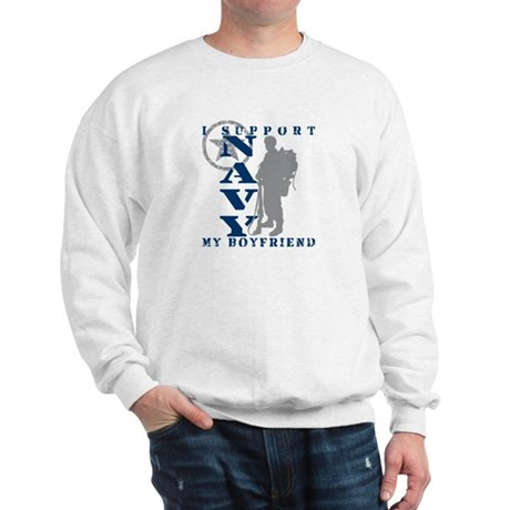 I Support Boyfriend 2 - NAVY Sweatshirt