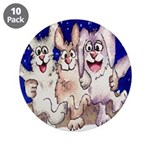 "Full Moon Rabbits 3.5"" Button (10 pack)"