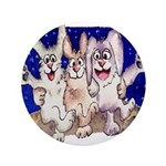 "Full Moon Rabbits 3.5"" Button"