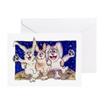 Full Moon Rabbits Greeting Card