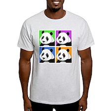 Panda Bear Squares T-Shirt
