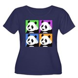 Panda Bear Squares Women's Plus Size Scoop Neck Da