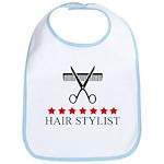 Hair Stylist (red stars) Bib
