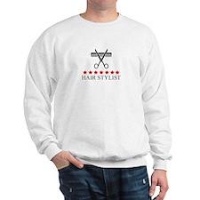 Hair Stylist (red stars) Sweatshirt